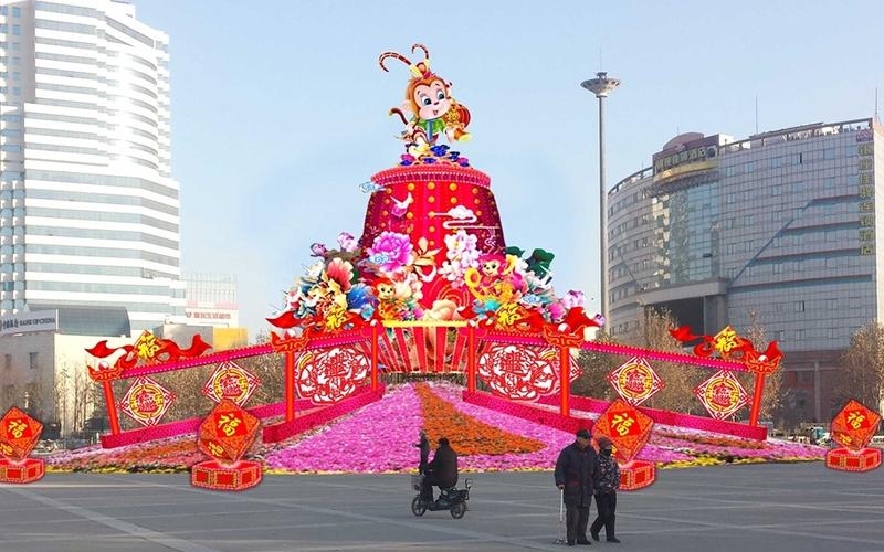 陕西广场灯展