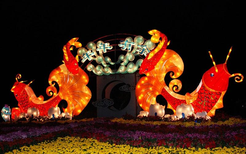 舟山春节彩灯
